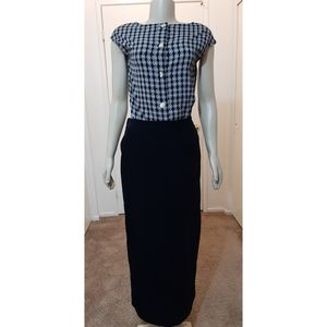 Hot Cotton by Marc Ware Black Sueded Pencil Skirt